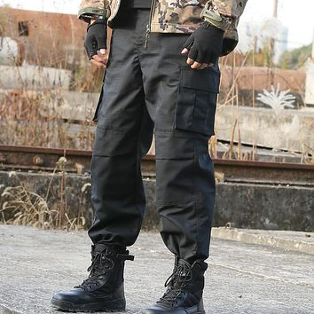 Working Pants Military Cargo Pantalon Urban Tactical Pants Mens Army Loose Pants Harem Thin Trousers Security Field Work Clothes