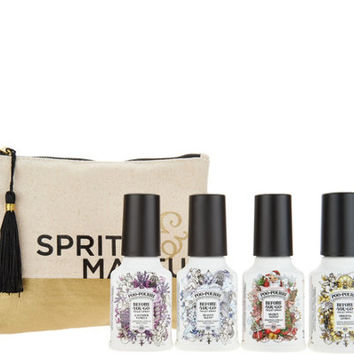 Poo-Pourri (4) 2oz. Customer Choice Scents in Canvas Bag — QVC.com