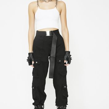 Dark Private Life Cargo Pants