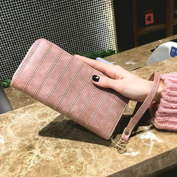 Aelicy 2018 New Design Wallet Female Fashion Wallets Women Long Design Wallet Purse Fashion Men Women Leather Clutch Bags HOT