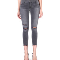 822 cropped skinny mid-rise jeans