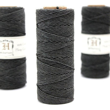 Grey Hemp Twine, Dark Gray, High Quality Hemp Craft Cord