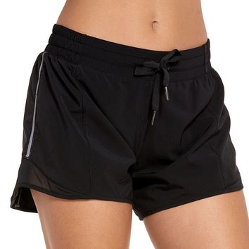 Women's Drawstring Fitness Athletic Sports Running Shorts with Pocket