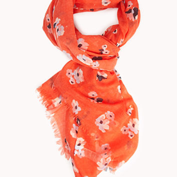 Sweet Abstract Floral Scarf