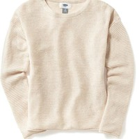 Old Navy Girls Drop Shoulder Sweater