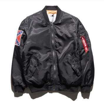 Couple Air Force pilot jacket Female tide brand coat retro baseball clothes tide male Black