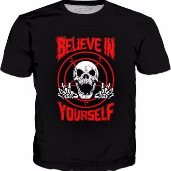 Believe In Yourself Death Metal T-Shirt - Funny Death Metal