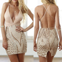 Halter Cut-Out Mini Dress