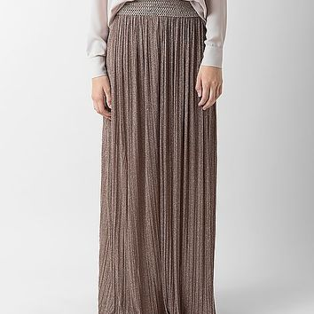 Soieblu Metallic Maxi Skirt