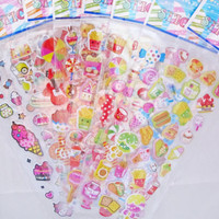 Colorful Sweets and Treats Epoxy Sticker Sheet (Your Choice of Design)~KAWAII!!