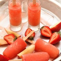 Strawberry Peach Vodka Collins Popsicle Recipe