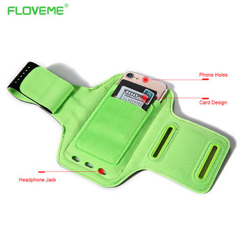 FLOVEME Universal Sports Armband Case For iPhone 6 6s 7 Plus LED Light Shell Glow in Dark Cover For iPhone 6 Plus 6s Plus 7 Plus