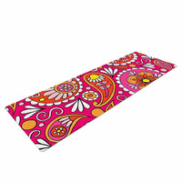 "Sarah Oelerich ""Paisley Pop"" Orange Pink Yoga Mat"