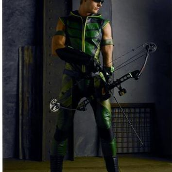 Green Arrow Justin Hartley poster Metal Sign Wall Art 8in x 12in