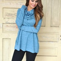 Cowl Tunic- Blue