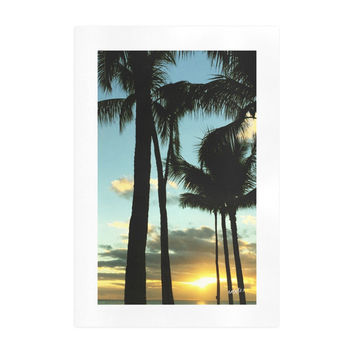 Art Print . Hawaiian Sunset