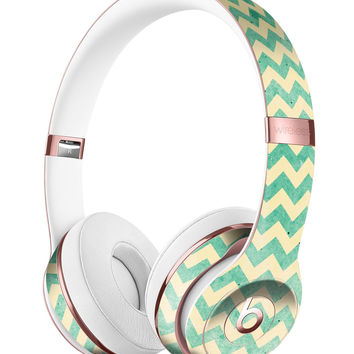 Faded Green Chevron Pattern Full-Body Skin Kit for the Beats by Dre Solo 3 Wireless Headphones