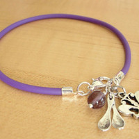 Lupus Purple Awareness Anklet - with Spoons