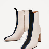 CONTRAST HIGH HEEL ANKLE BOOTS - NEW IN-TRF | ZARA Canada