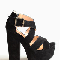 Van Buren Platform Heels By Luichiny - $87.00: ThreadSence, Women's Indie & Bohemian Clothing, Dresses, & Accessories