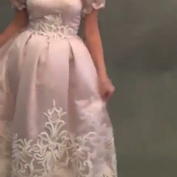Free shipping sweetheart  mini ball gown pink prom dresses off  the shoulder birthday sweet 16 dress gala wear