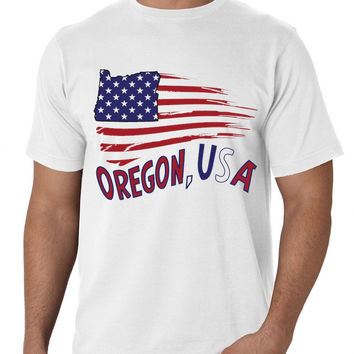 'Oregon American Flag' Tee