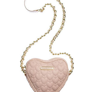 Betsey Johnson Handbag, Heart Quilted Crossbody - Handbags & Accessories - Macy's
