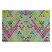 Pattern State Triangle Summer Woven Rug