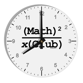 "Math Club 8"" Round Wall Clock with Numbers by TooLoud"