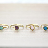 2piece Select Simple Knuckle Ring Gold Plated Jewelry gift idea 3.0 US size