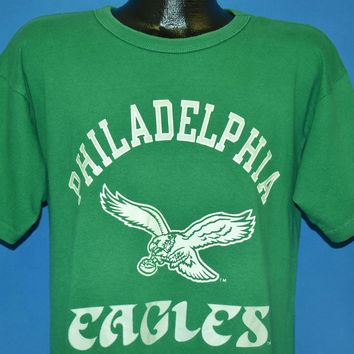 80s Philadelphia Eagles Kelly Green NFL Football t-shirt Medium