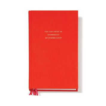 Never Overdressed Journal in Red by Kate Spade New York