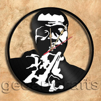 Wall Clock Louis Armstrong  Vinyl Record Clock Upcycled Gift Idea