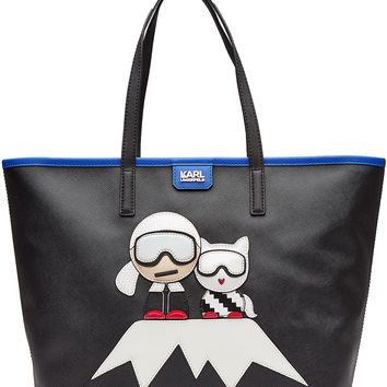Karl Lagerfeld - Tote with Patches