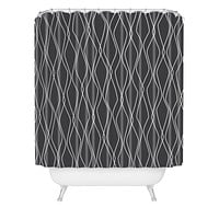 Heather Dutton Fuge Slate Shower Curtain