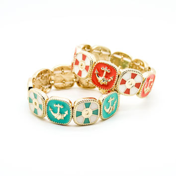 Anchor stretch bracelet
