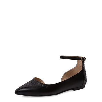 Seychelles Women's Most Likely Pointed-Toe Flat - Black -