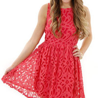 Georgia on My Mind Dress, Coral :: NEW ARRIVALS :: The Blue Door Boutique