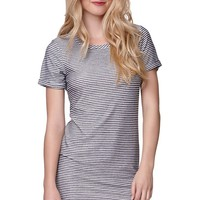 LA Hearts Terry Striped Dress - Womens Dress