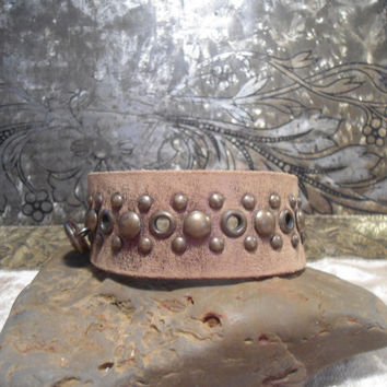 Wide Leather Cuff Bracelet Adjustabl Grommets jewelry making jewelry supplies pendant supplies gemstone supplies