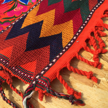 Handmade Table Runner - table runner, wall hanging, carpet home décor, Mayan handmade traditional woven textile