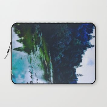 Blue Trees Laptop Sleeve by DuckyB (Brandi)