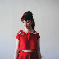 Betty's Red Sailor Blouse
