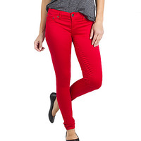 Girls Curvy Skinny Jeans - Red - Jordan