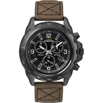 Timex Expedition Rugged Chronograph Watch - Brown/Black
