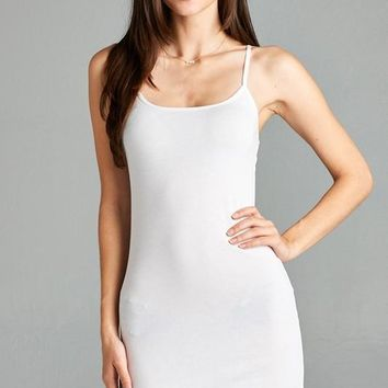 Cami Tank Dress - White