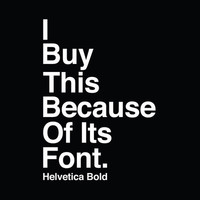 I BUY THIS BECAUSE OF ITS FONT. Stretched Canvas by Duminda Perera