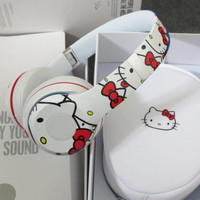 2015 New Arrival Hello kitty Limited edition 2.0 HD headphone stereo DJ Headphone free EMS/DHL