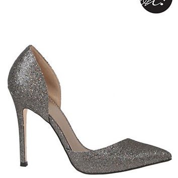 Badgley Mischka Vida Glitter Pumps