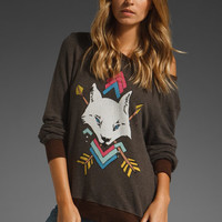 WILDFOX COUTURE White Wolf Baggy Beach Jumper in Earth at Revolve Clothing - Free Shipping!